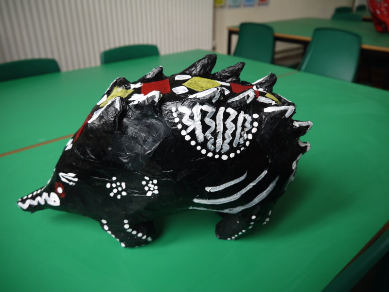 Echidna Sculpture from yr 5