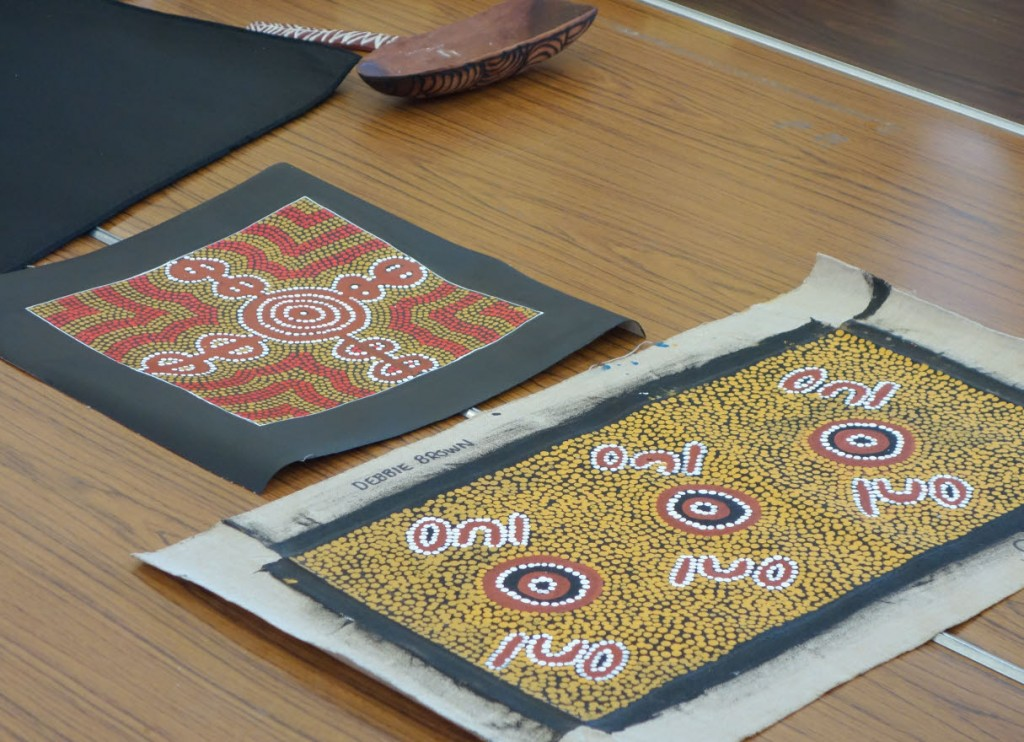 Aboriginal paintings and artefacts used in the workshops